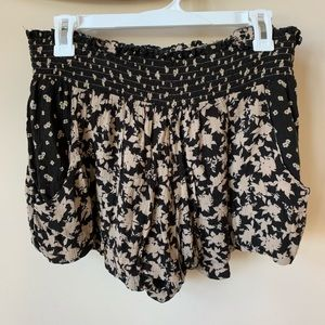 Free People print mix woven shorts #739